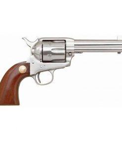 "Cimarron Model 'P' Single Action Revolver .45 Long Colt 4.75"" Barrel 6 Rounds Stainless Steel Pre-War Walnut Grip MP4500"