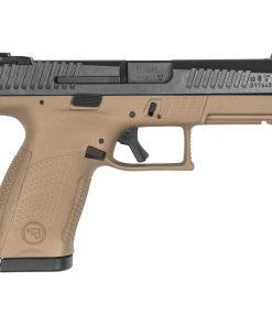 "CZ P-10 C Compact 9mm Luger Semi Auto Pistol 4.02"" Barrel 10 Rounds Night Sights Black Slide/Flat Dark Earth Frame"