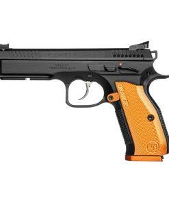 "CZ Shadow 2 Orange Semi Auto Pistol 9mm Luger 4.89"" Barrel 17 Rounds Aluminum Orange Grips Black Finish"