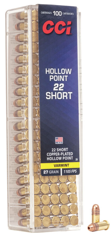 Short Hollow Point 22 Short 500 Rds