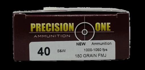PRECISION ONE 40 S&W AMMUNITION BRASS 500 ROUNDS