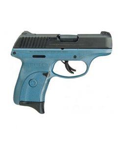 """Ruger LC9s 9mm Luger Semi Auto Handgun 3.12"""" Barrel 7 Rounds Polymer Frame Blued Slide Titanium Blue Frame Finish"""